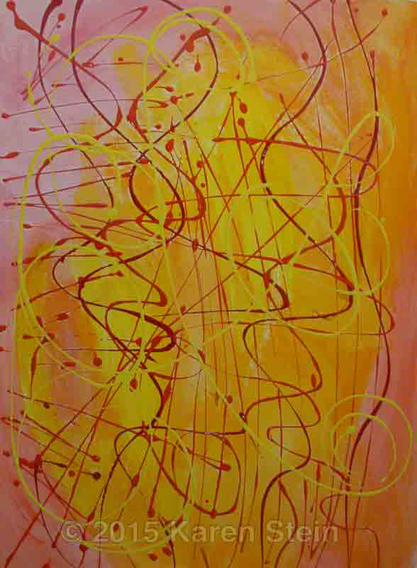 Untitled 17  acrylic on paper  22x30 in.