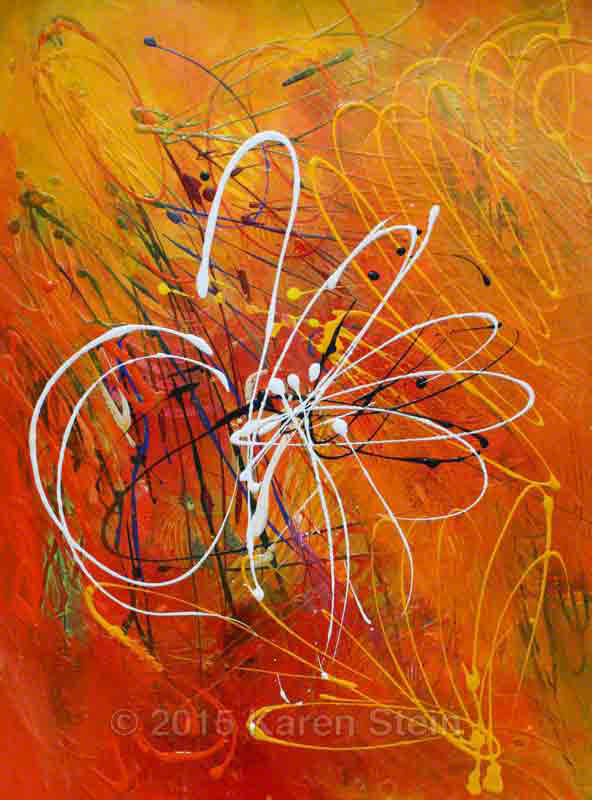 Untitled 44  acrylic on paper  22x30 in.