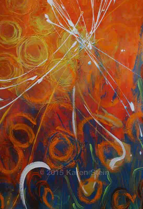 Untitled 45  acrylic on paper  22x30 in.