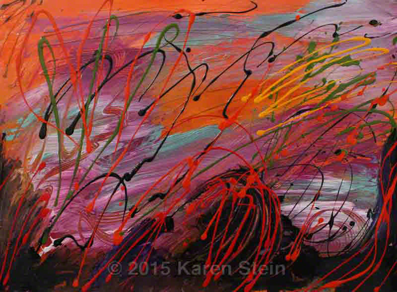 Untitled 46  acrylic on paper  22x30 in.
