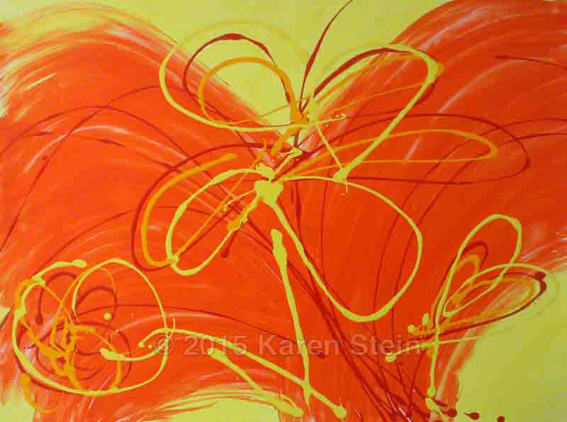 Untitled 48  acrylic on paper  22x30 in.