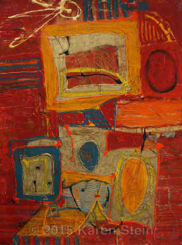 Untitled 71  mixed media on paper  22x30 in.
