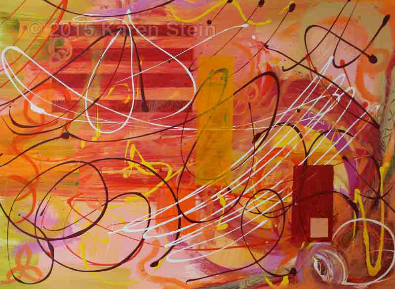 Untitled 78  acrylic on paper  22x30 in.