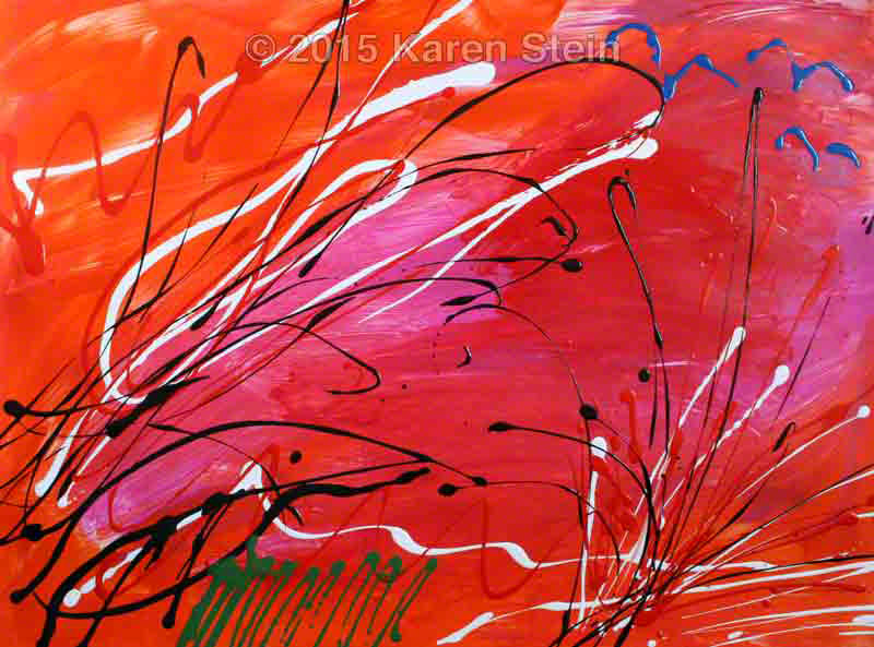 Untitled 112  acrylic on paper  22x30 in.