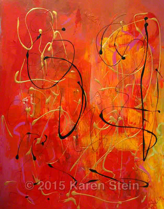 Untitled 128  acrylic on canvas  28x22x1.25 in.