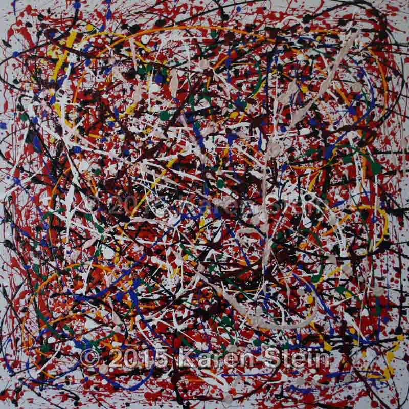 Untitled 133  acrylic on canvas  36x36x0.63 in.