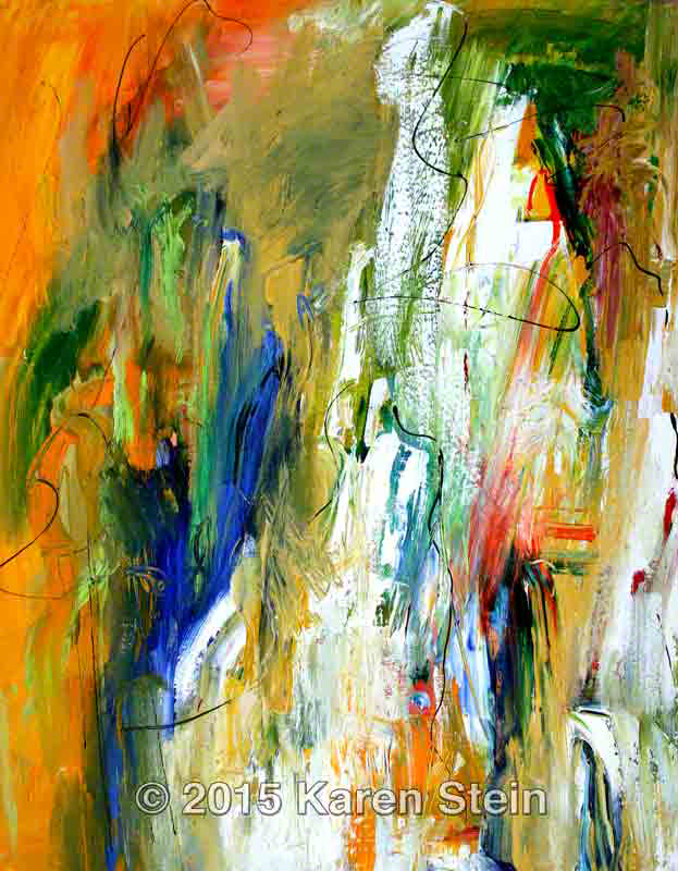 Untitled 138  acrylic on canvas  28x22x1.25 in.