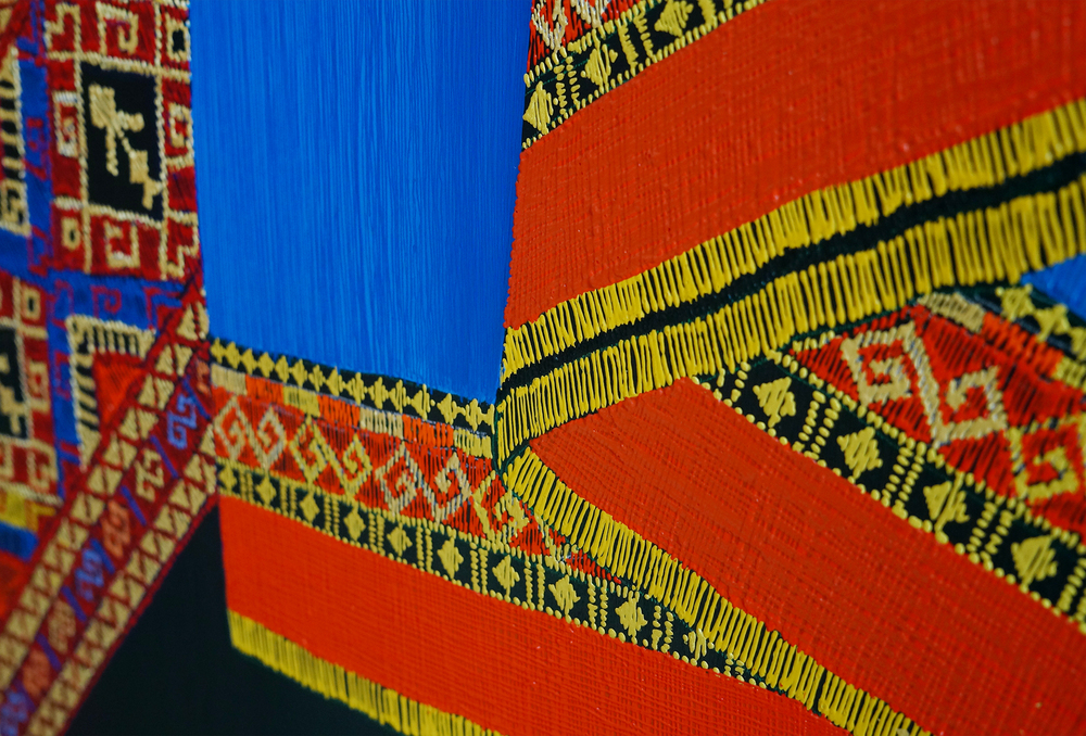 Example of Wattana's intricate work of traditional Thai textiles.