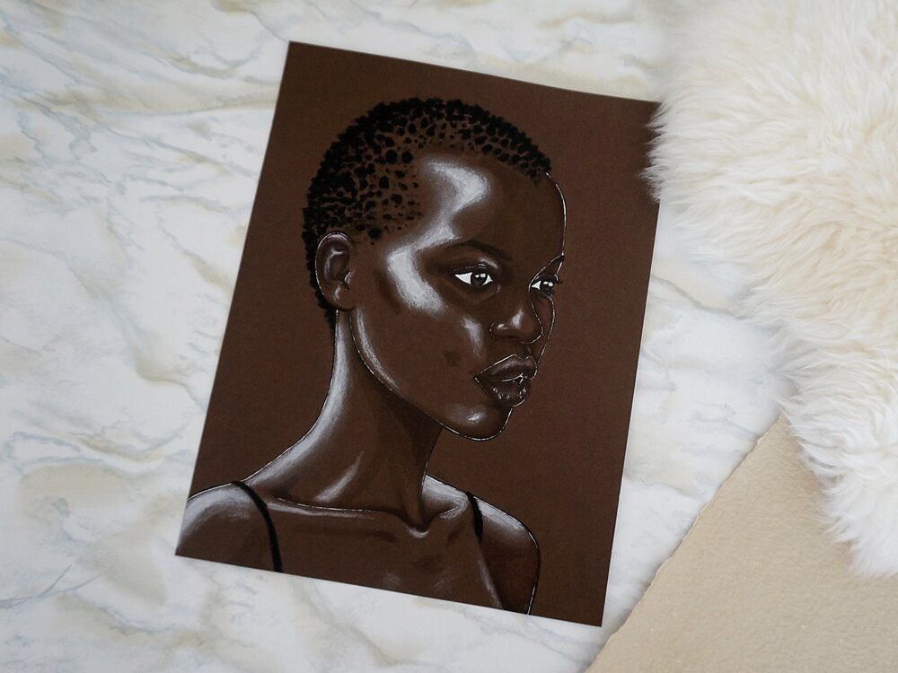 """Nykhor"", referenced from South Sudanese-Australian model Nykhor Paul"