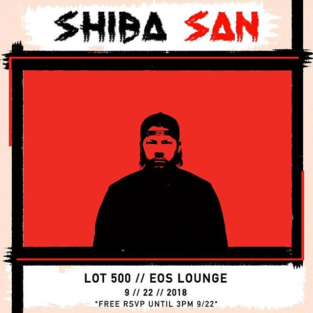 🌀NEW SHOW ANNOUNCEMENT🌀He's back!!! @shibasanmusic is taking over the BACK TO SCHOOL BLOCK PARTY September 22nd!! FREE RSVP until 3:00pm 9/22!! Link in bio📍  @insomniacclubs @insomniacevents @klctn  #shibasan #eoslounge