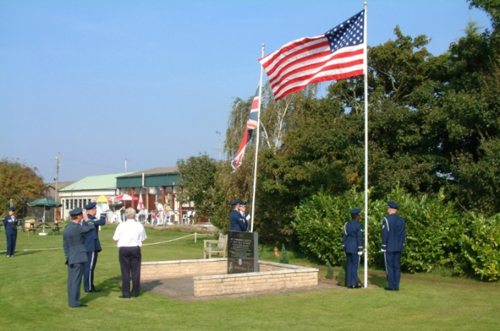 27 September 2008 in England at the site of the former 445th Bomb Group base at Tibenham. Courtesy of the Norfolk Gliding Club.