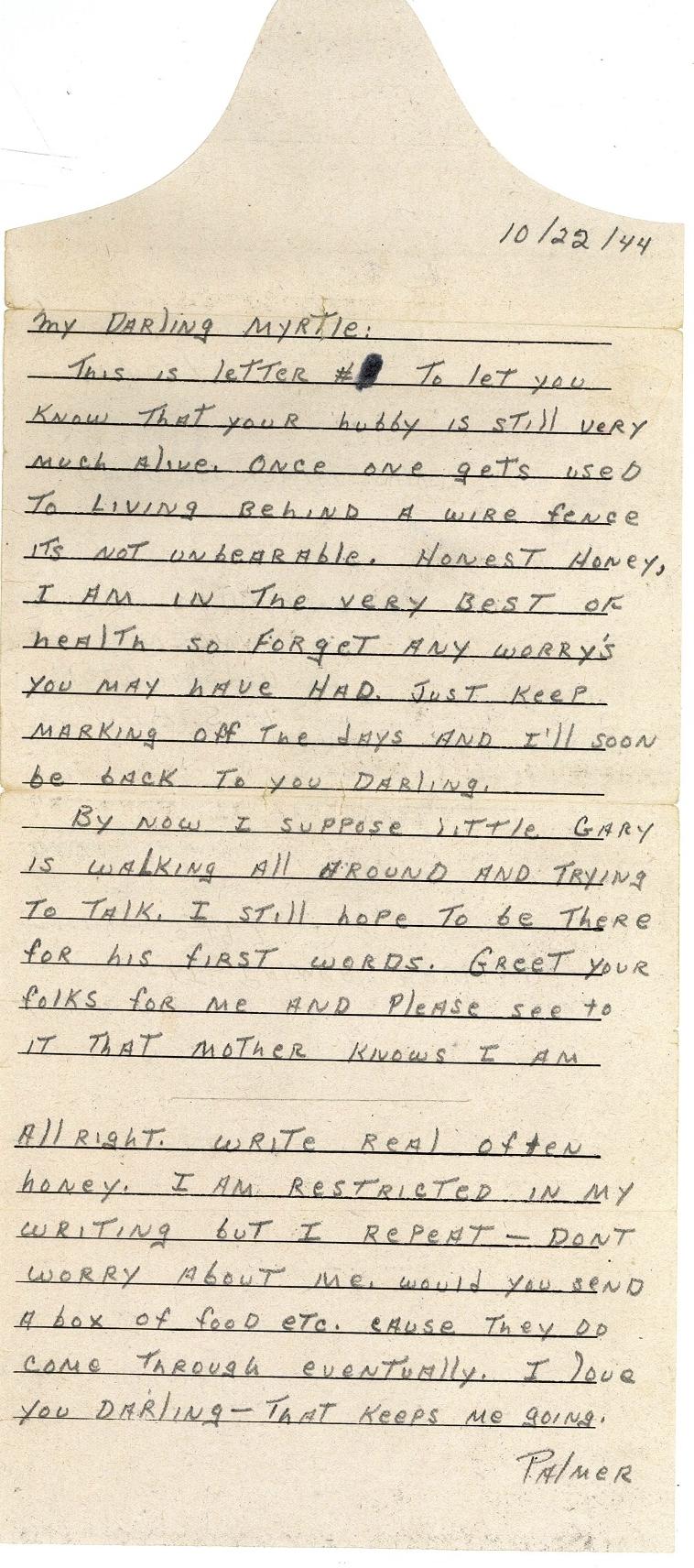Bruland letter 10-22-44