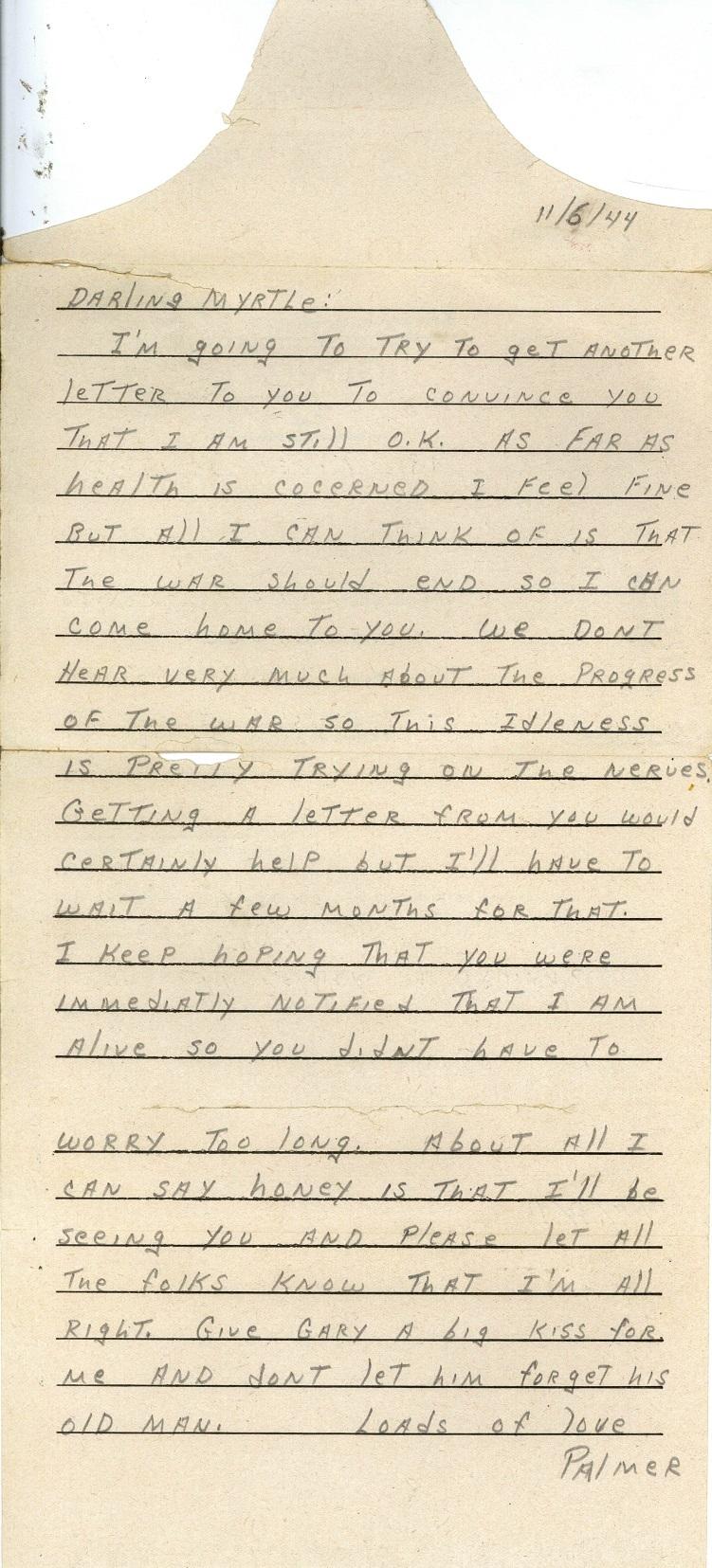 Bruland letter 11-6-44