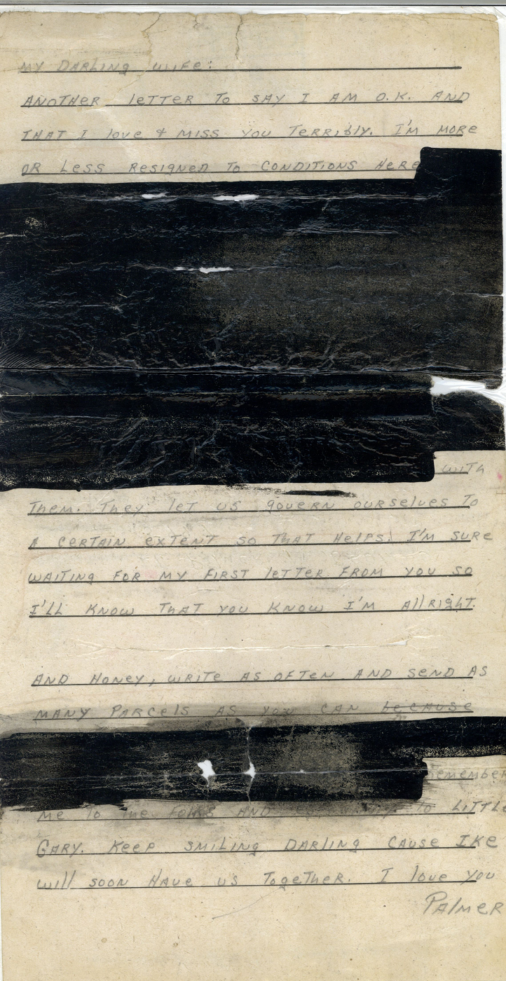 Bruland letter, undated, heavily redacted