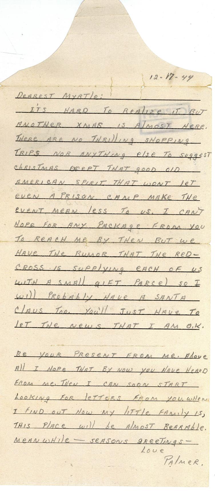 Bruland letter 12-17-44