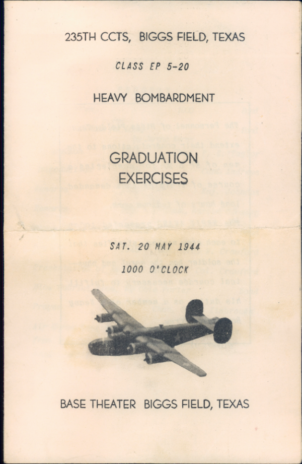 Bruland Adv Flying School Graduation program cover