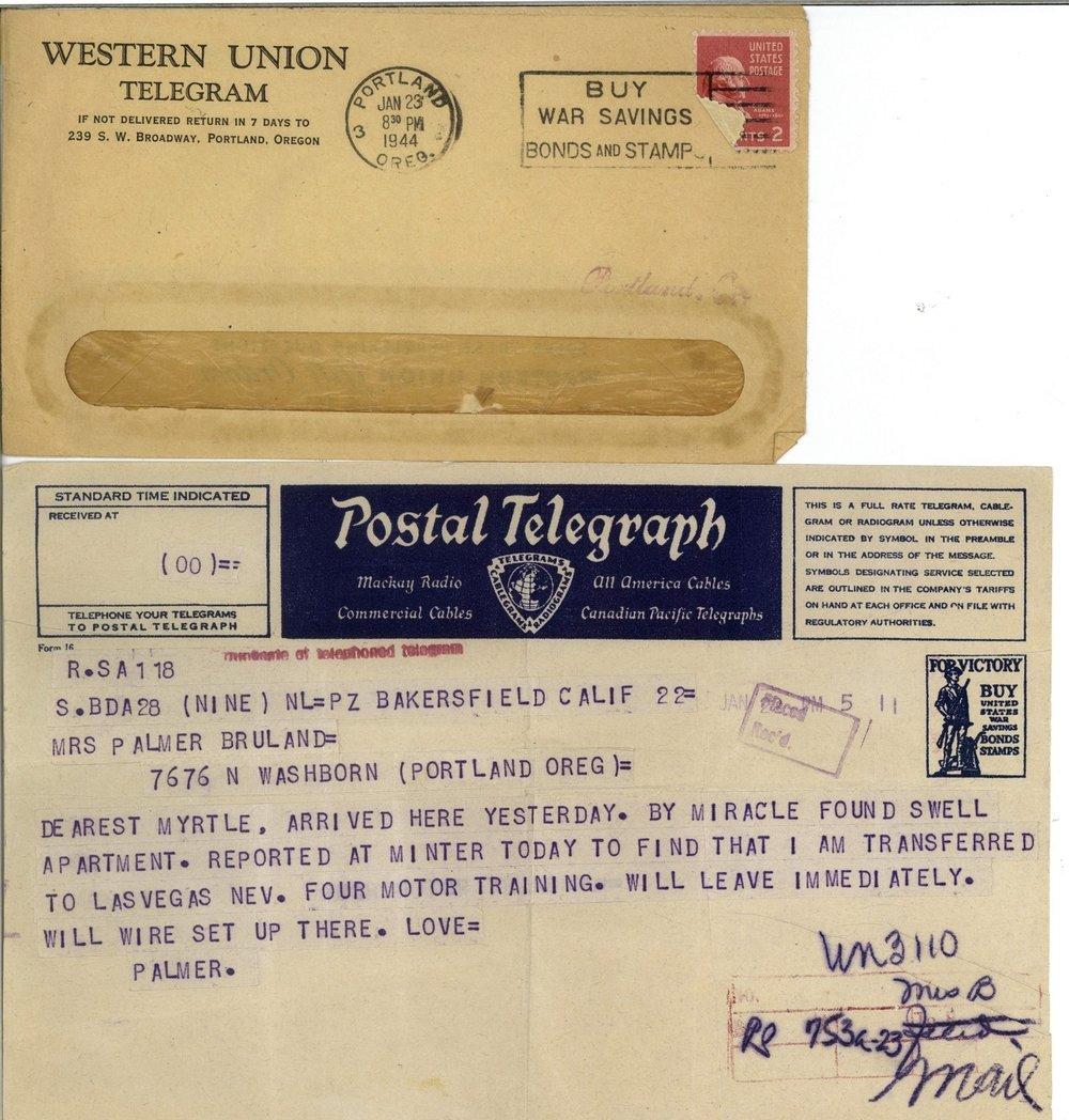 Jan 23 44 telegram enroute training