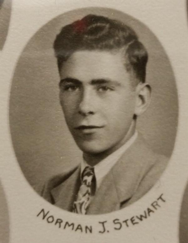 Norman James Stewart 1943 Senior Picture-Farmington High School, MI