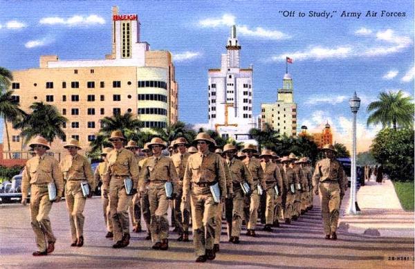 Miami Beach Training Center postcard, 1943.