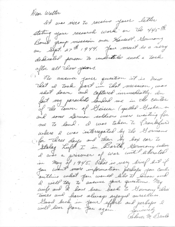Bruland handwritten account