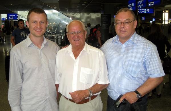 Tyler Barton, Luftwaffe pilot Gerhard Kott, historian Horst Jeckel