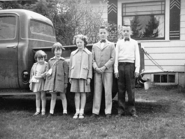 Bruland, Palmer five children 1956