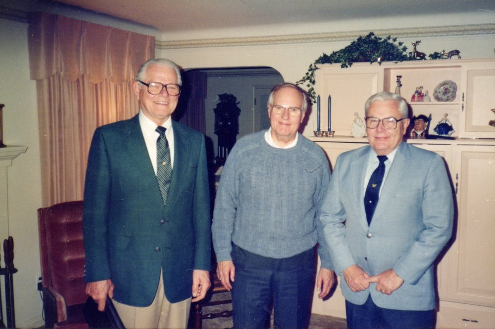 Left to right: Corman Bean, Bill Dewey, George Collar