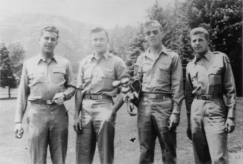 Hansen Crew - Hansen, Bridges, Smith, Pile  Colorado Springs 1944001.jpg