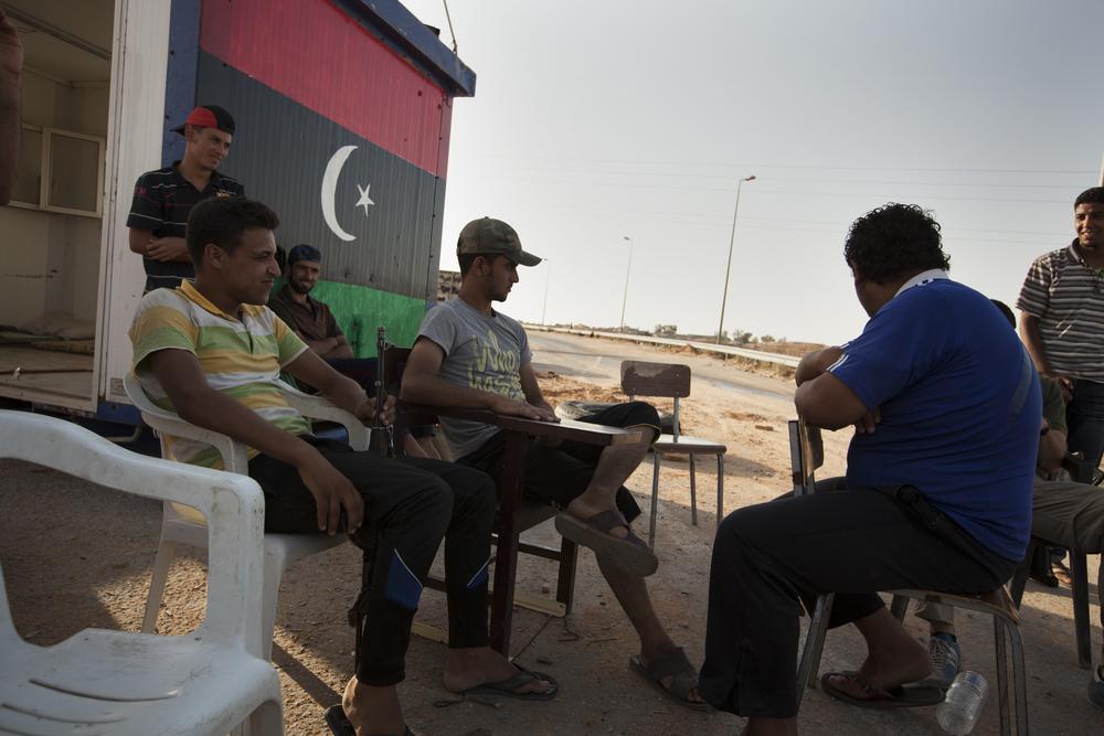 A checkpoint in Kikla, Libya. July 17, 2011