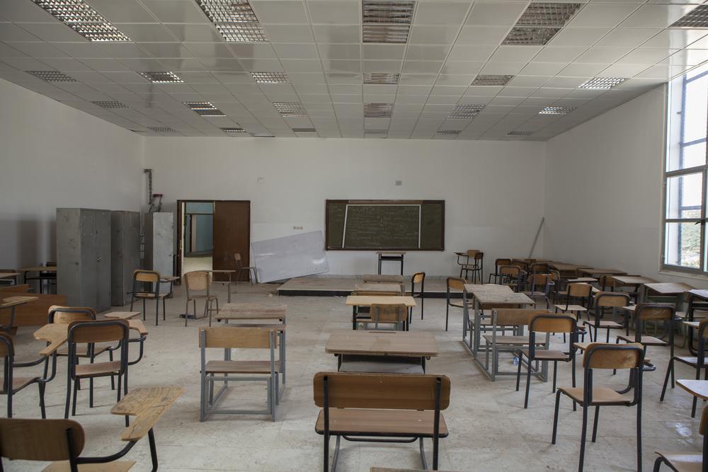 A school in Zintan is turned into a HQ fora rebel battalion. Zintan, Libya. July 17, 2011.