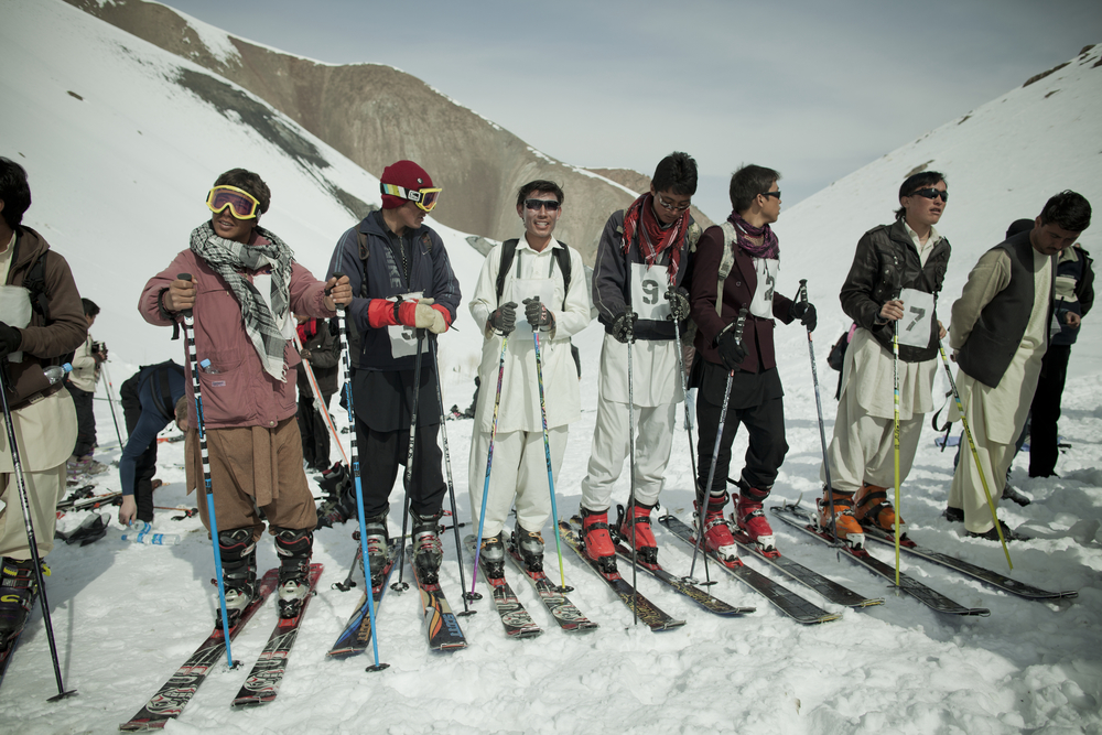 For this year's championship, the Afghan competitors were handpicked from the mountain villages and given two months of daily training by professional Western ski instructors and mountain guides. Koh-e-Baba Mountains, Afghanistan. March 1, 2012