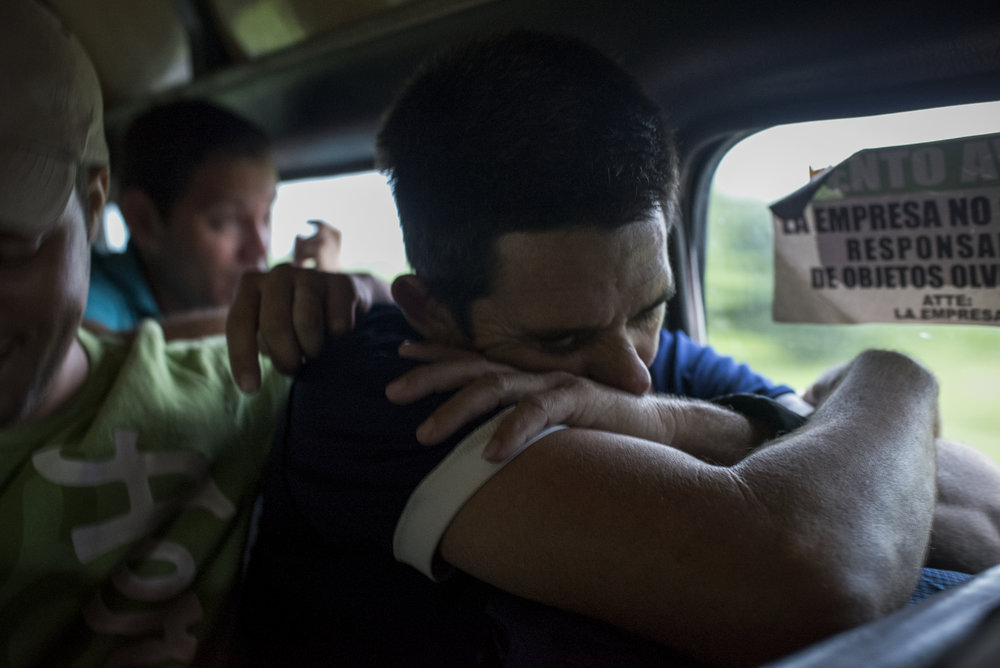 A packed bus takes Cuban refugees from the banks of the Suchiate River in Ciudad Hidalgo to the migration office in Tapachula where they will wait at an overwhelmed and overcrowded detention center to apply for a Mexican exit visa.