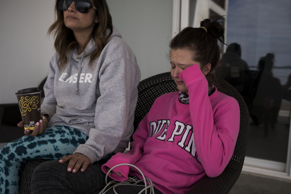 ROSARITO, MEXICO- Feb 14, 2018: Emily Albert tears up while talking about a vision she saw of her son while taking Ibogaine at The Ibogaine Institute on February 14, 2018 in Rosarito, Mexico. Emily has been on opioids since she was 14 and is at The Ibogaine Institute to be treated with Ibogaine, a psychedelic drug that is illegal in the United States but has been shown to dramatically reduce opioid withdrawals and reduce long term addiction.(Jonathan Levinson for The World)