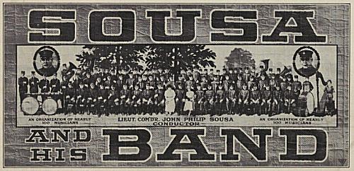 Sousa and His Band (1920 poster).