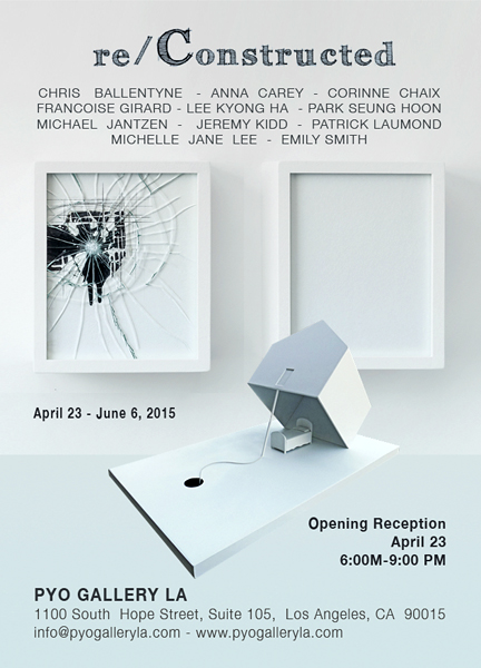 RE/CONSTRUCTED PYO Gallery in Los Angeles presents the group show Re/constructed. The artists works in the show investigate a varied range of perspectives but collectively employ elements of architectural space to reconstruct strange and surreal worlds. Opens April 23  and runs until June 6.