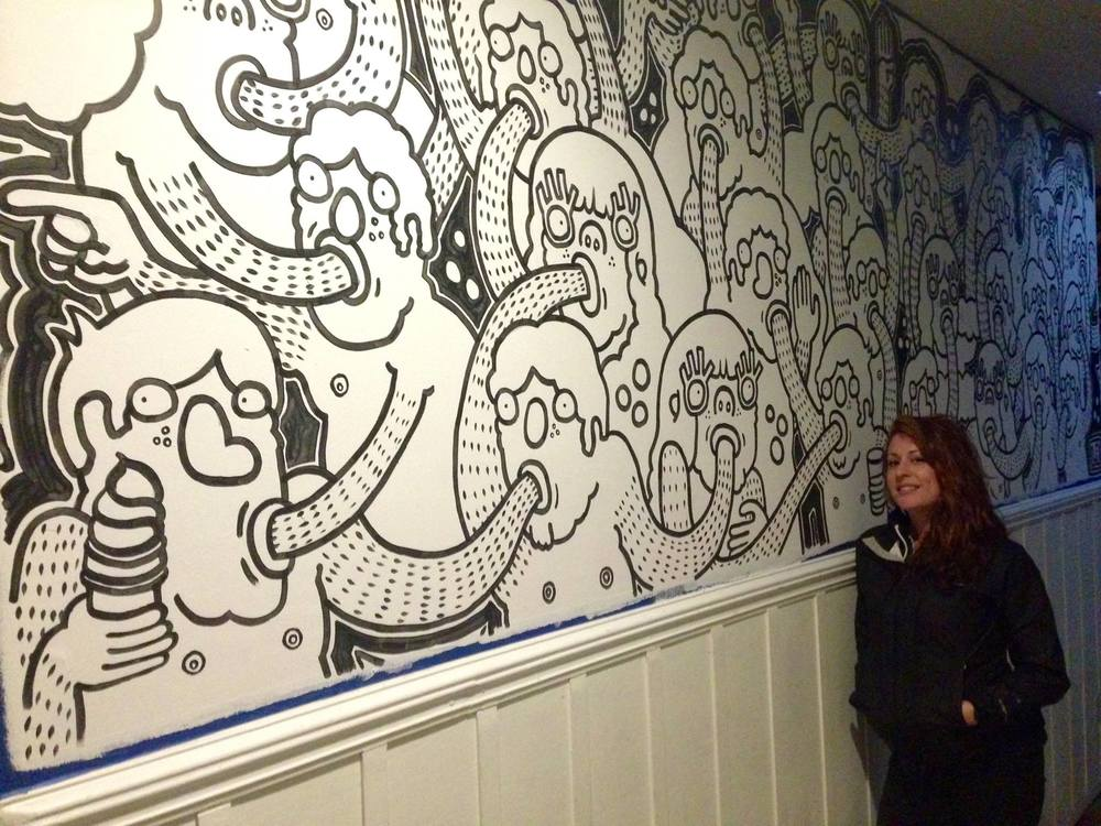 LAUREN ASTA AND HER MURAL
