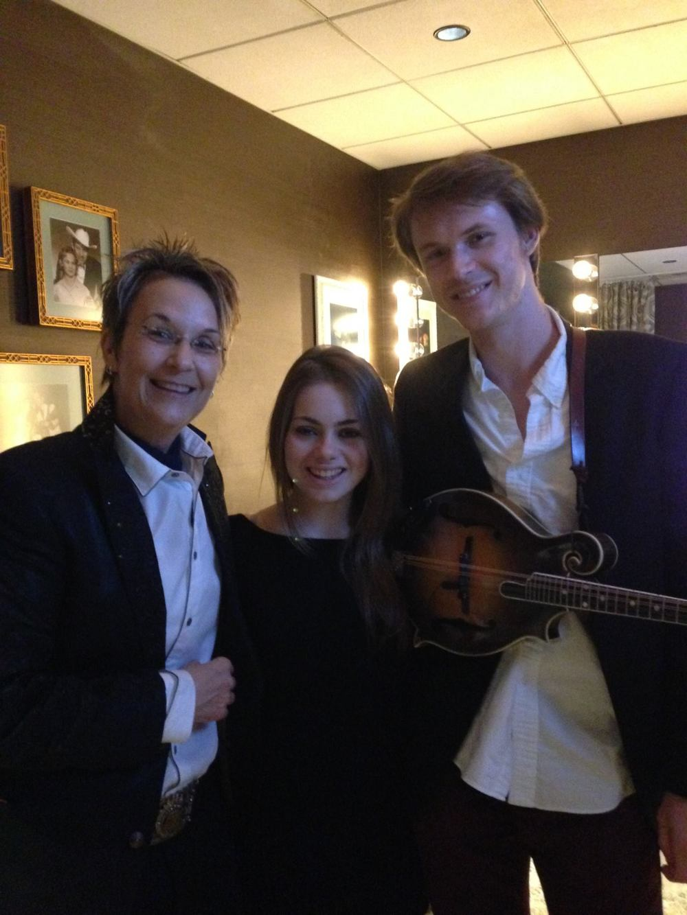 Mary Gauthier, Kate Lee & Forrest O'Connor  Backstage at the Grand Ole Opry