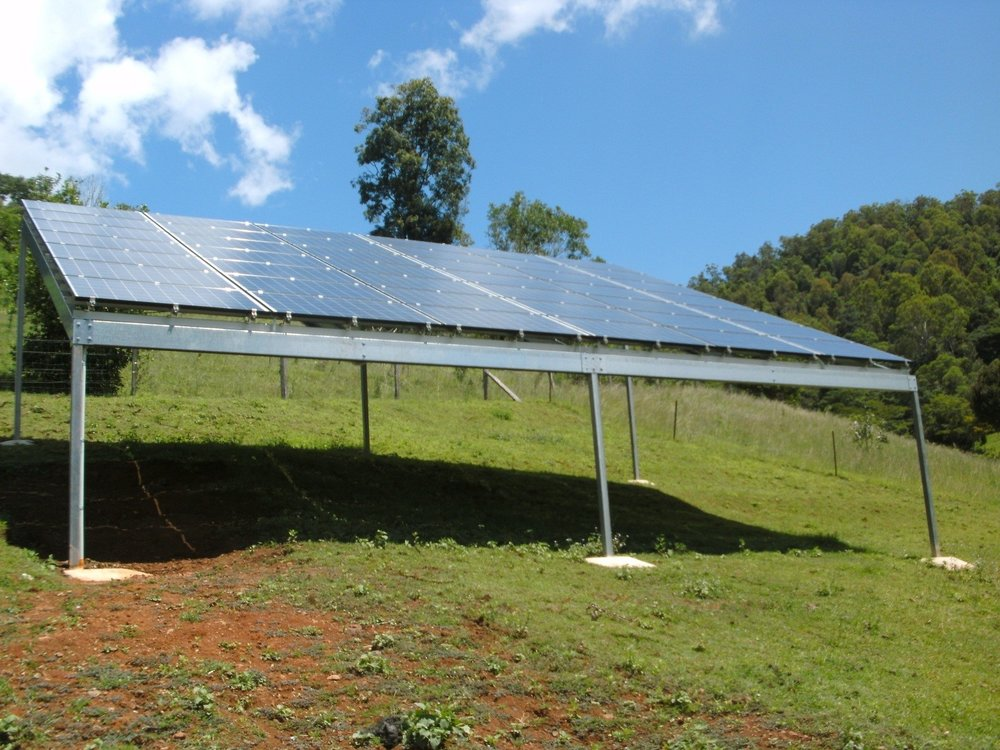 Terry's 10 kw Ground-mounted System in Kenilworth Qld
