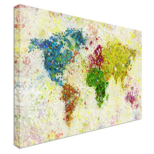 Map prints canvas town paint splat world map ag publicscrutiny Image collections