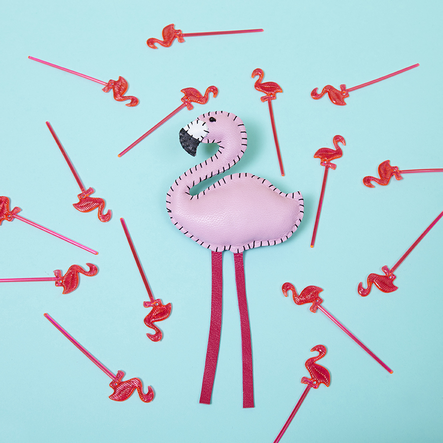 Flamingo Brooch by  Hetty & Dave