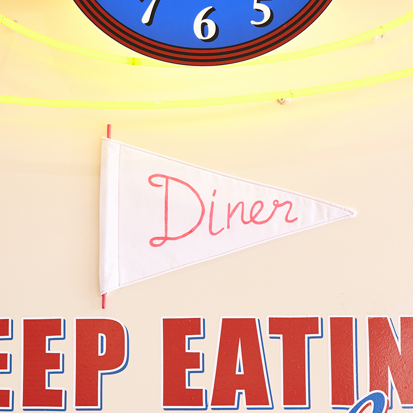 Diner Pennant Flag by  Emma Simmonds