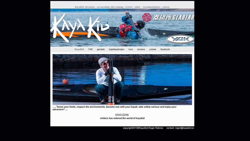 Photos for the KayaKid website.