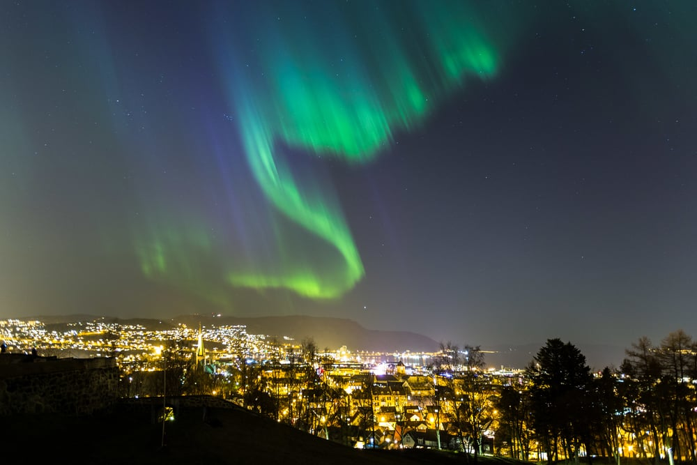 Enjoy Aurora Borealis in Norway from September to April.