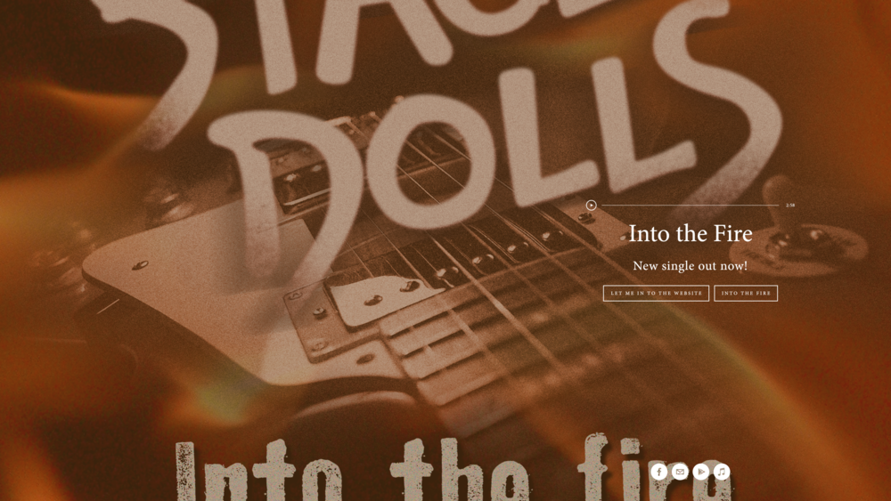 Web site creative and some photos for the norwegian rock band Stage Dolls