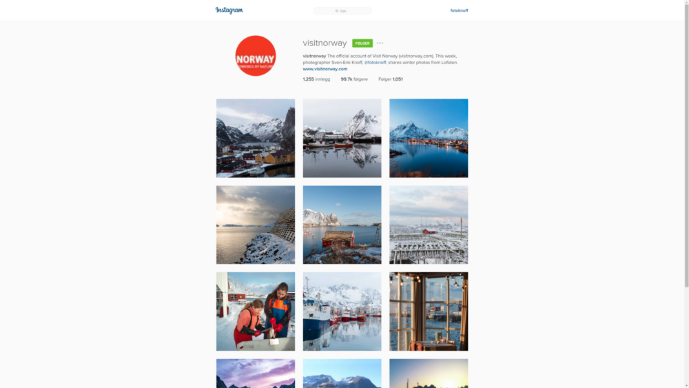 Instagram takeover: One week with photos from Lofoten.