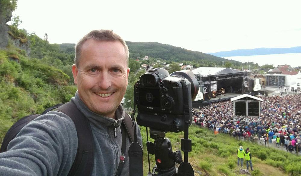 Fotografering på Sverresborg og konserten med Elton John sommeren 2016.