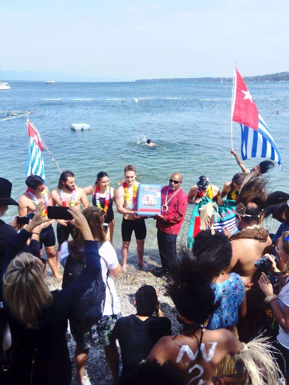 Swim for West Papua Lake Geneva