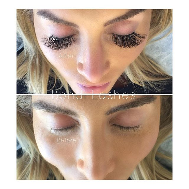 Ever wondered what 18mm Russian volume lashes look like? #beforeandafter To give you an idea, I normally get size 13mm. For my clients who 'want natural lashes' I generally apply a combination of 9mm, 10mm, 11mm and sometimes 12mm. (Depending on their natural lash length obviously) This client absolutely adores size 18mm and wouldn't have it any other way. They look ridiculously STUNNING on her!! This is a Glam set of Russian volume. Volume fans are hand made by Emily using @bondilashessupplies #follow #share #like !! #handmade #russianvolume #transformation #bondilashes #lashqueen #lashesonfleek #clientappreciation #longlashes #eyelashextensions #eyelashes #pretty #prettyeyes #lashesbyemily #bondijunction #bondibeach #bondibeauty #instagood