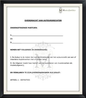Auteursrechten Overdragen   Akte van Overdracht   MusicaJuridica BV