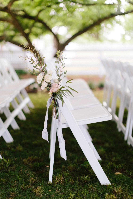 Ceremony aisle florals